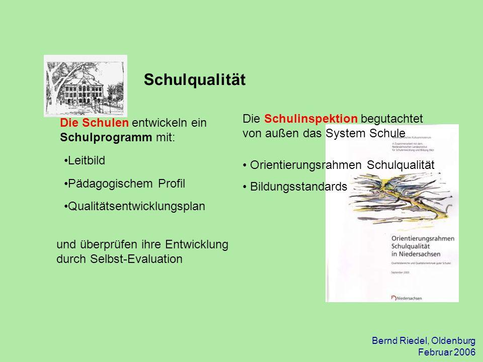 31.03.2017 Schulqualität. Die Schulinspektion begutachtet von außen das System Schule. Orientierungsrahmen Schulqualität.