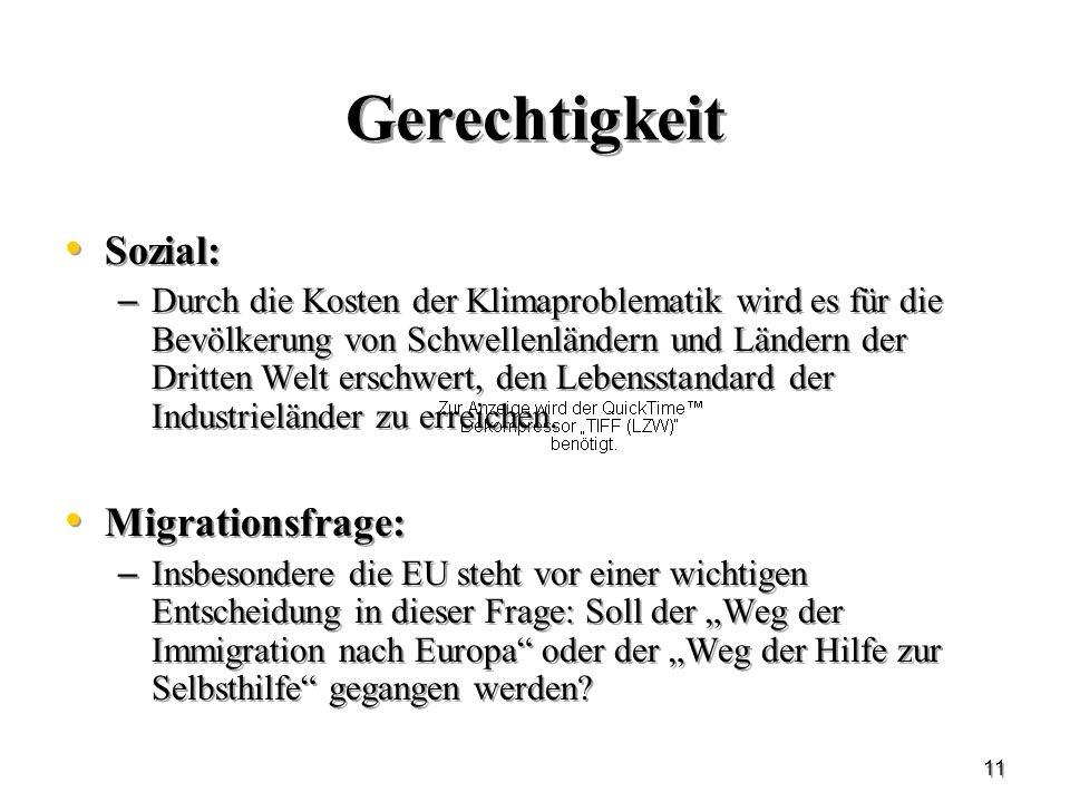 Gerechtigkeit Sozial: Migrationsfrage: