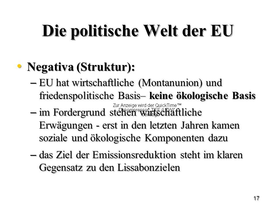 Die politische Welt der EU