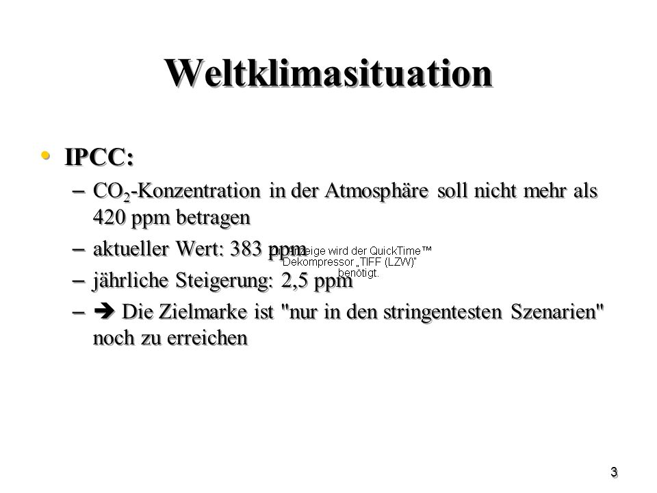 Weltklimasituation IPCC: