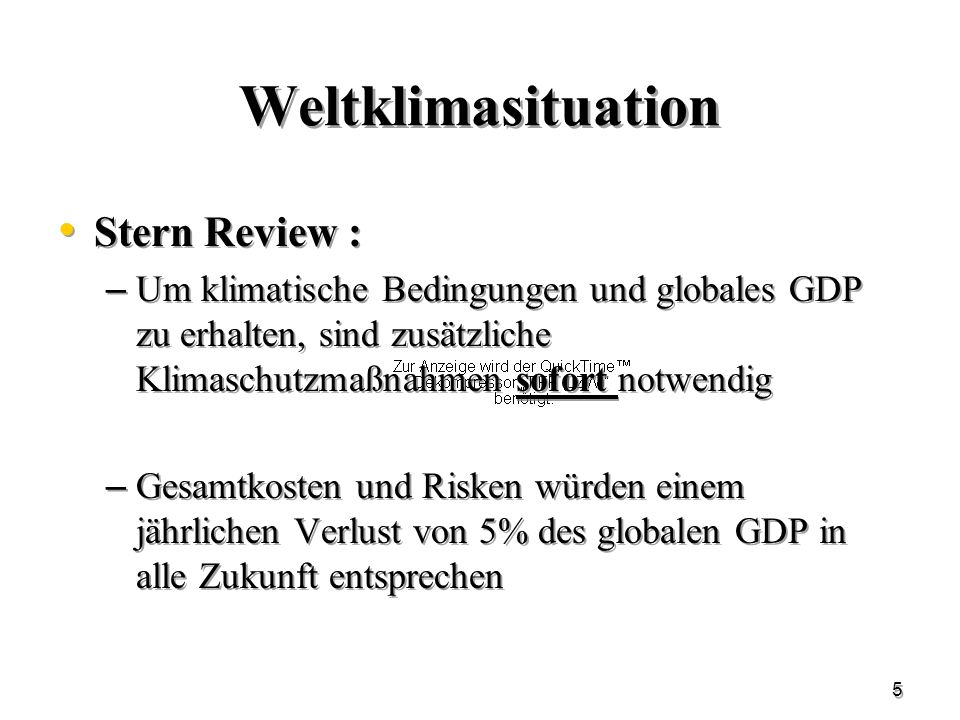 Weltklimasituation Stern Review :