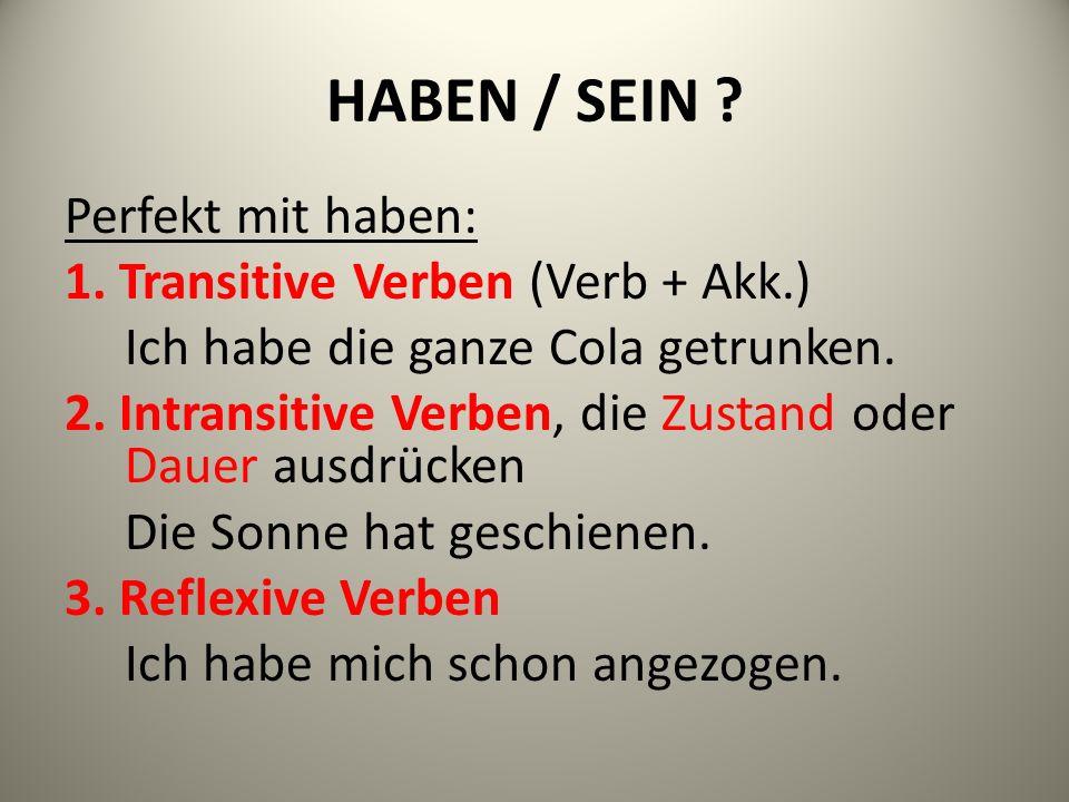 HABEN / SEIN