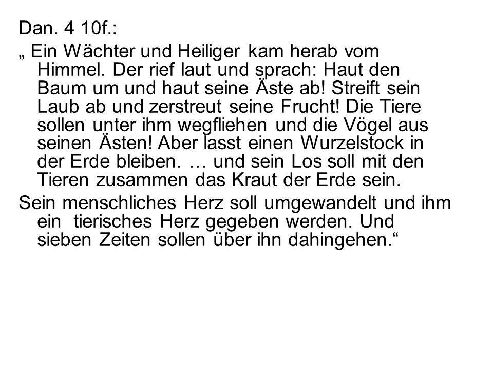 Dan. 4 10f.: