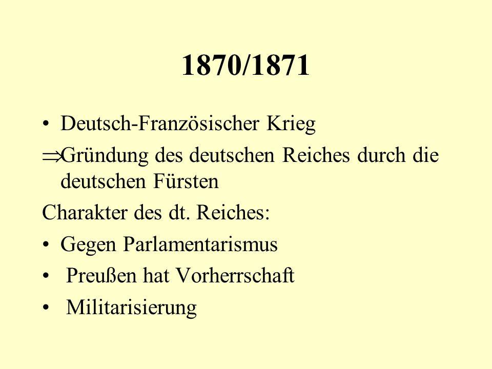 1870/1871 Deutsch-Französischer Krieg