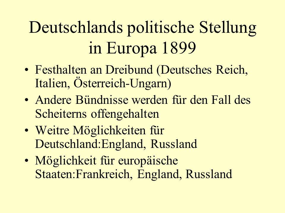 Deutschlands politische Stellung in Europa 1899