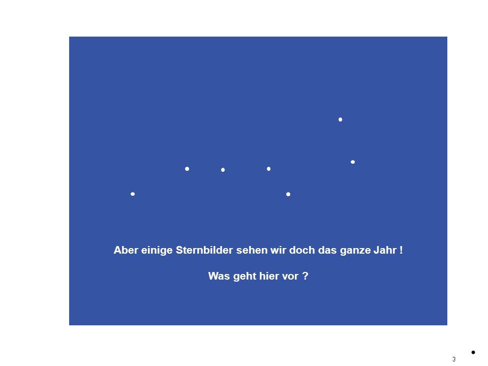 Aber einige Sternbilder sehen wir doch das ganze Jahr !
