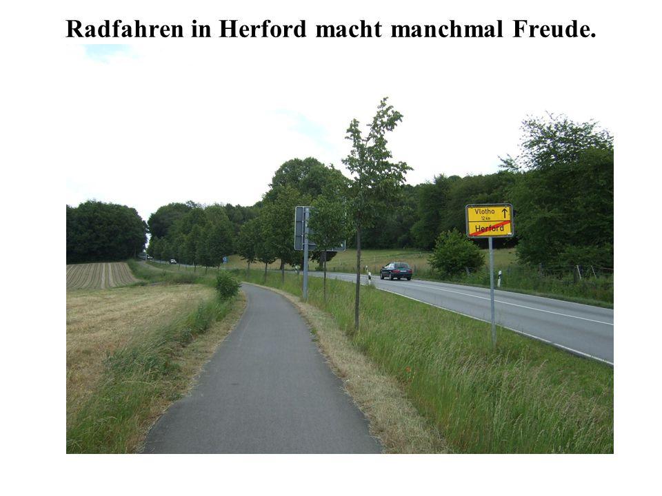 Radfahren in Herford macht manchmal Freude.