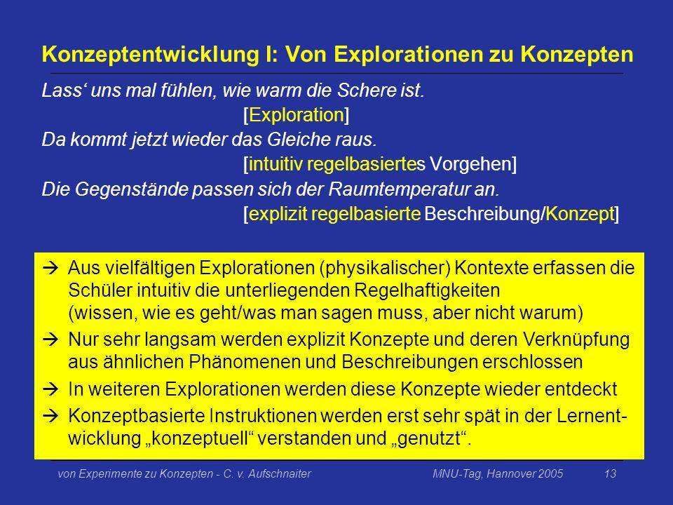Konzeptentwicklung I: Von Explorationen zu Konzepten