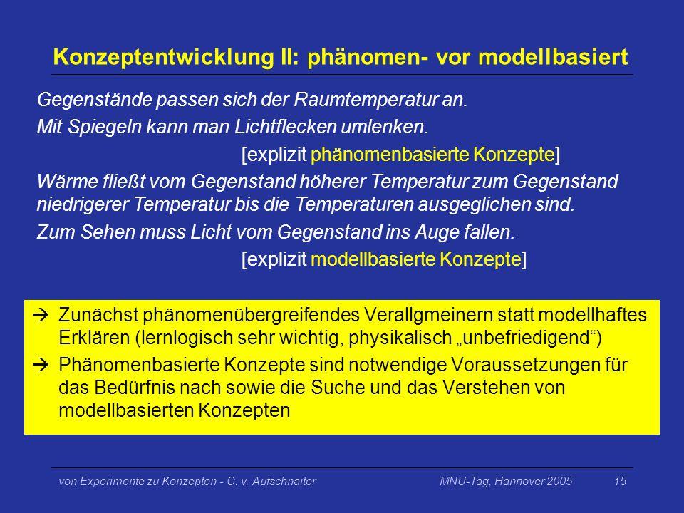Konzeptentwicklung II: phänomen- vor modellbasiert