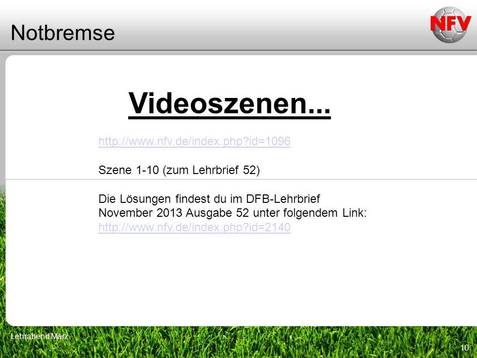 Videoszenen... Notbremse http://www.nfv.de/index.php id=1096