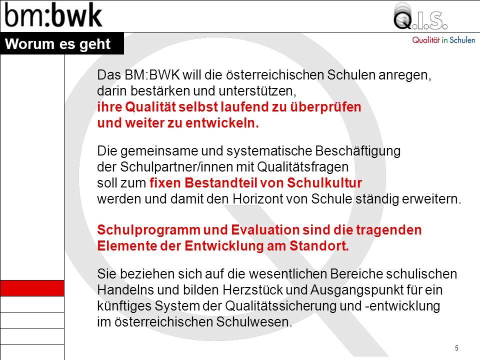Worum es geht Das BM:BWK will die österreichischen Schulen anregen,