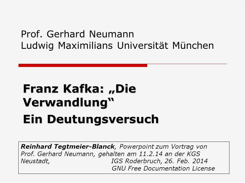 Prof. Gerhard Neumann Ludwig Maximilians Universität München