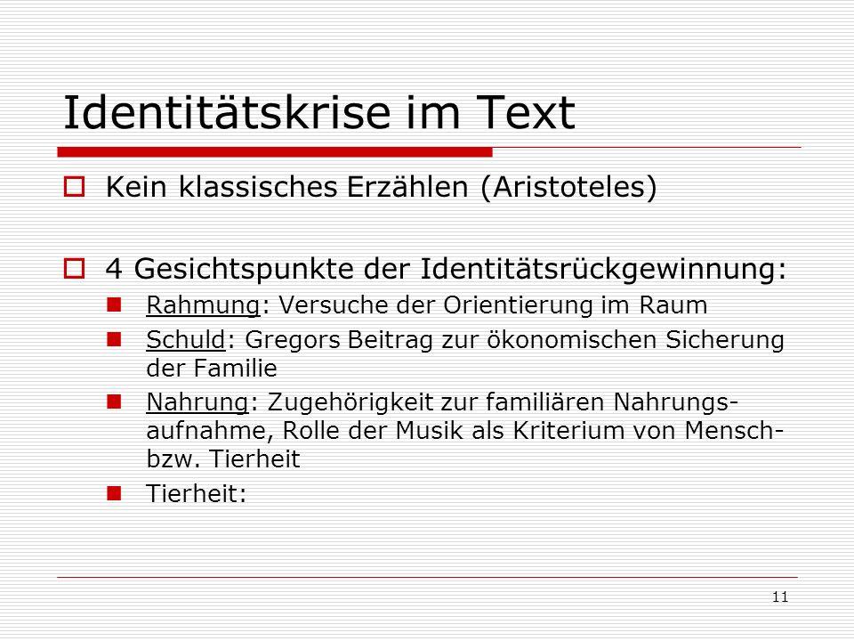 Identitätskrise im Text