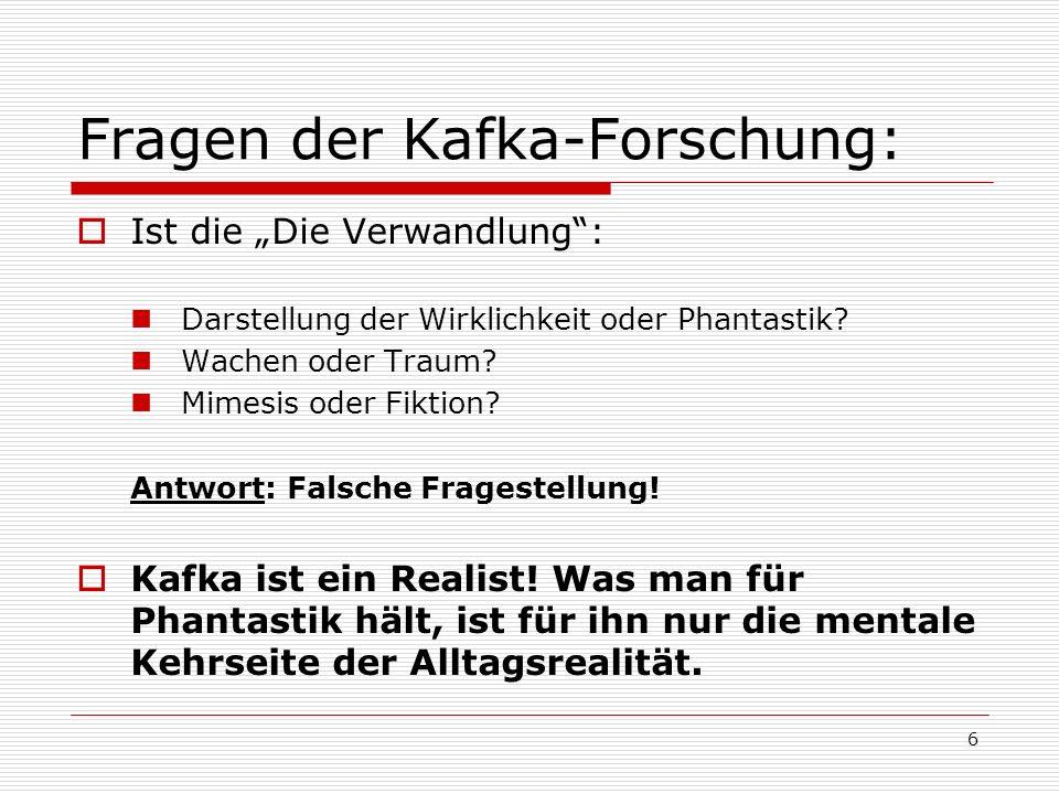 Fragen der Kafka-Forschung: