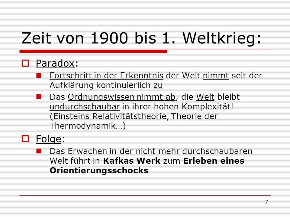 Zeit von 1900 bis 1. Weltkrieg: