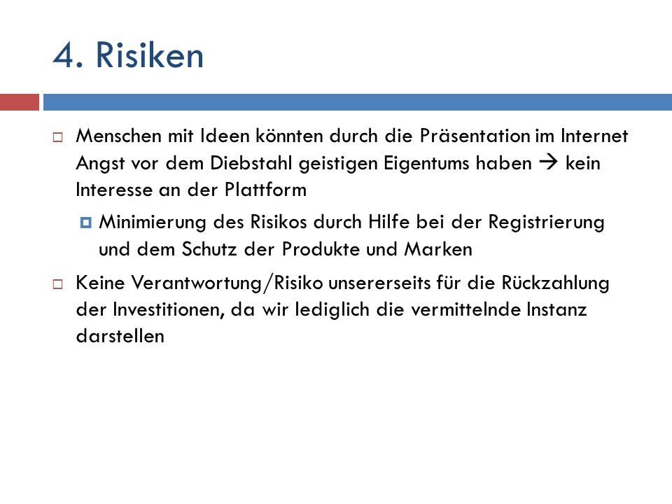 4. Risiken