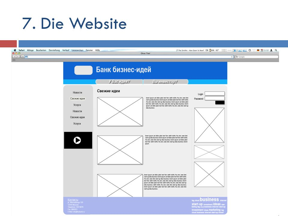 7. Die Website