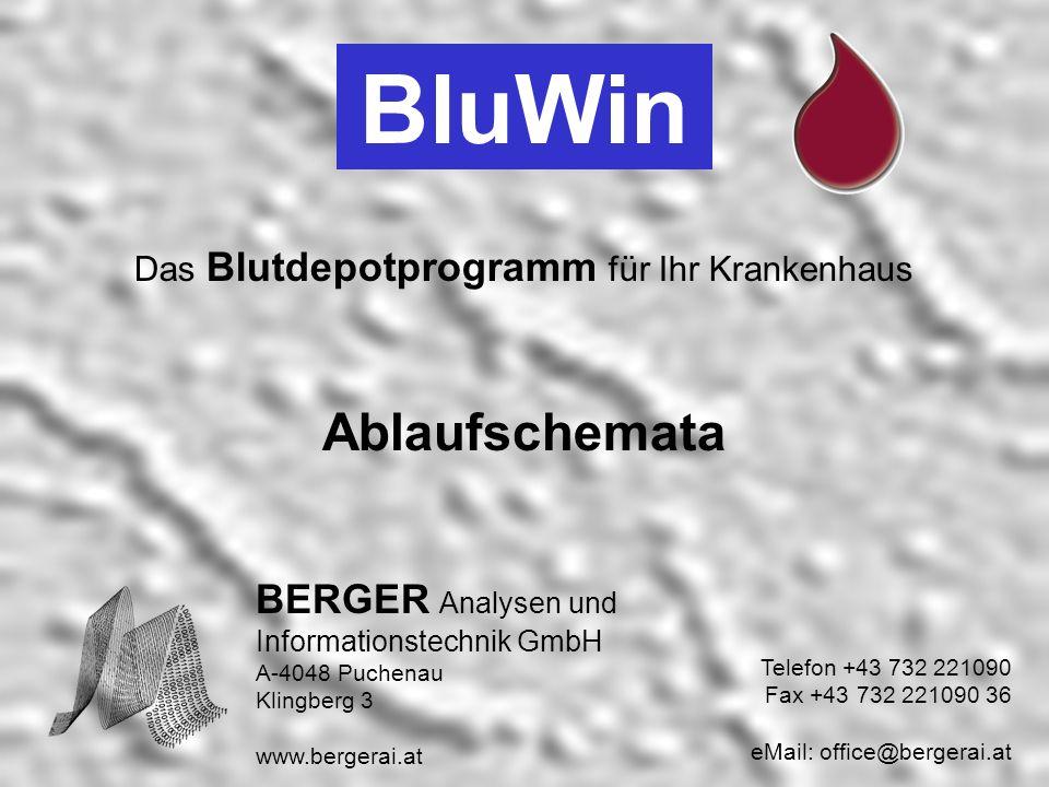 BluWin Ablaufschemata BERGER Analysen und