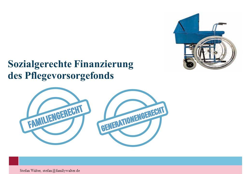 Sozialgerechte Finanzierung des Pflegevorsorgefonds