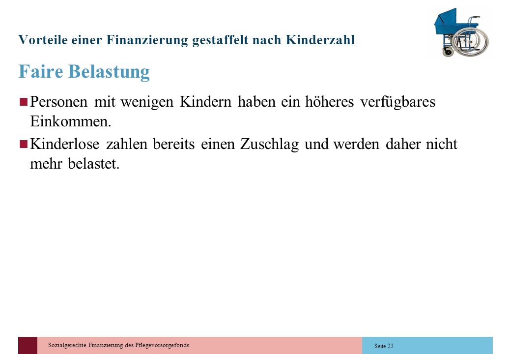 Vorteile einer Finanzierung gestaffelt nach Kinderzahl
