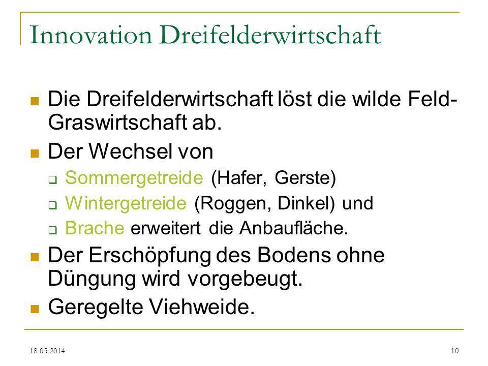 Innovation Dreifelderwirtschaft