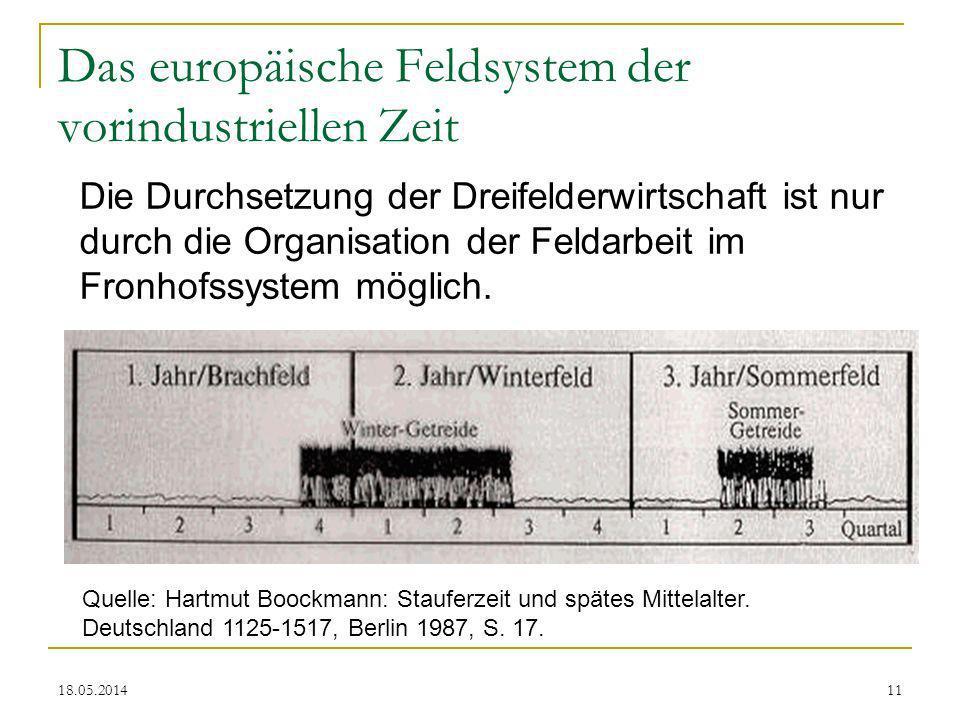 Das europäische Feldsystem der vorindustriellen Zeit