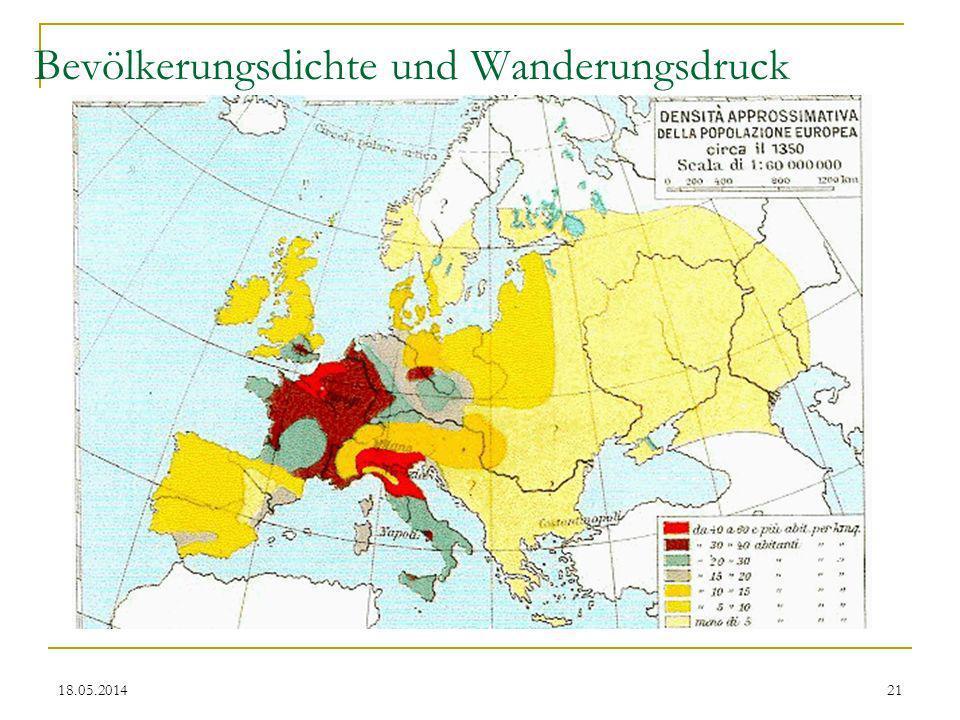 Bevölkerungsdichte und Wanderungsdruck