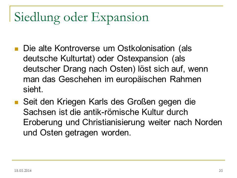 Siedlung oder Expansion