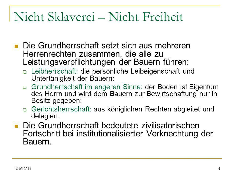 Nicht Sklaverei – Nicht Freiheit