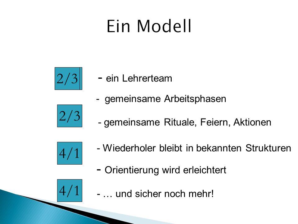 Ein Modell 2/3 2/3 2/3 4/1 4/1 - ein Lehrerteam