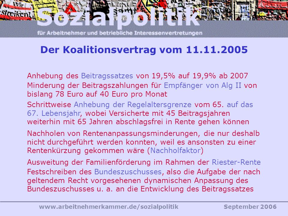 Der Koalitionsvertrag vom 11.11.2005