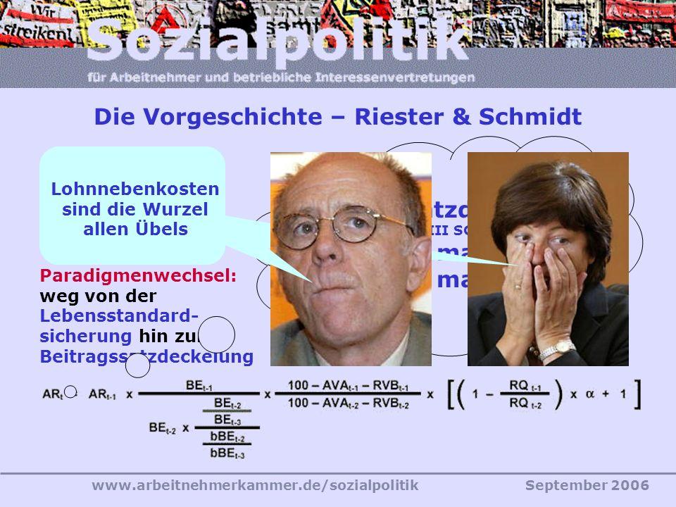 Die Vorgeschichte – Riester & Schmidt