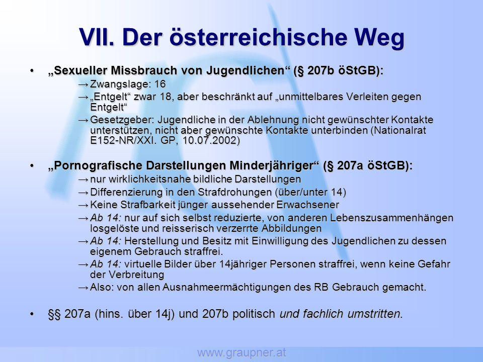 VII. Der österreichische Weg