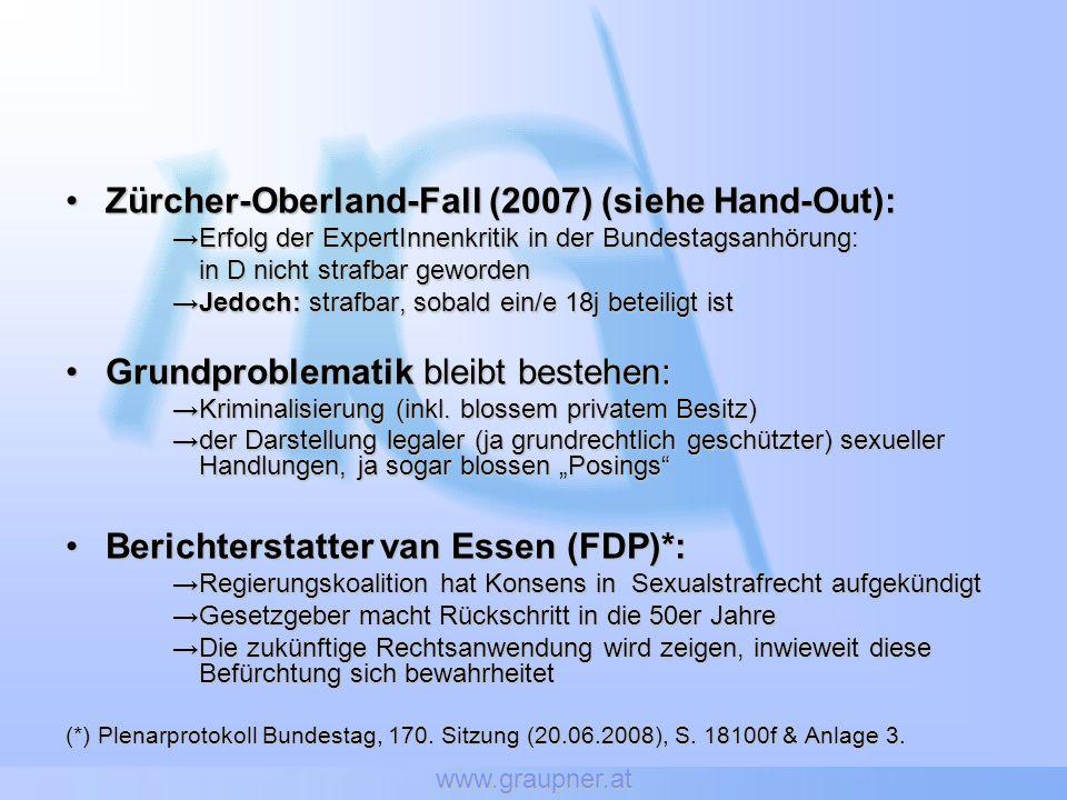 Zürcher-Oberland-Fall (2007) (siehe Hand-Out):