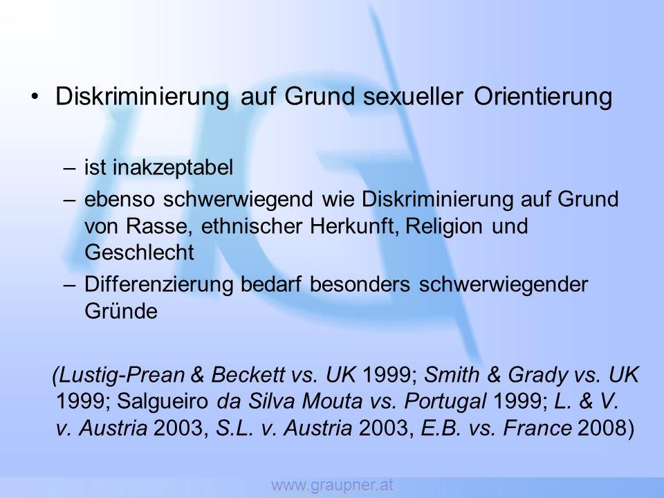 Diskriminierung auf Grund sexueller Orientierung