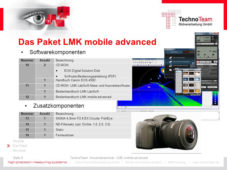 Das Paket LMK mobile advanced