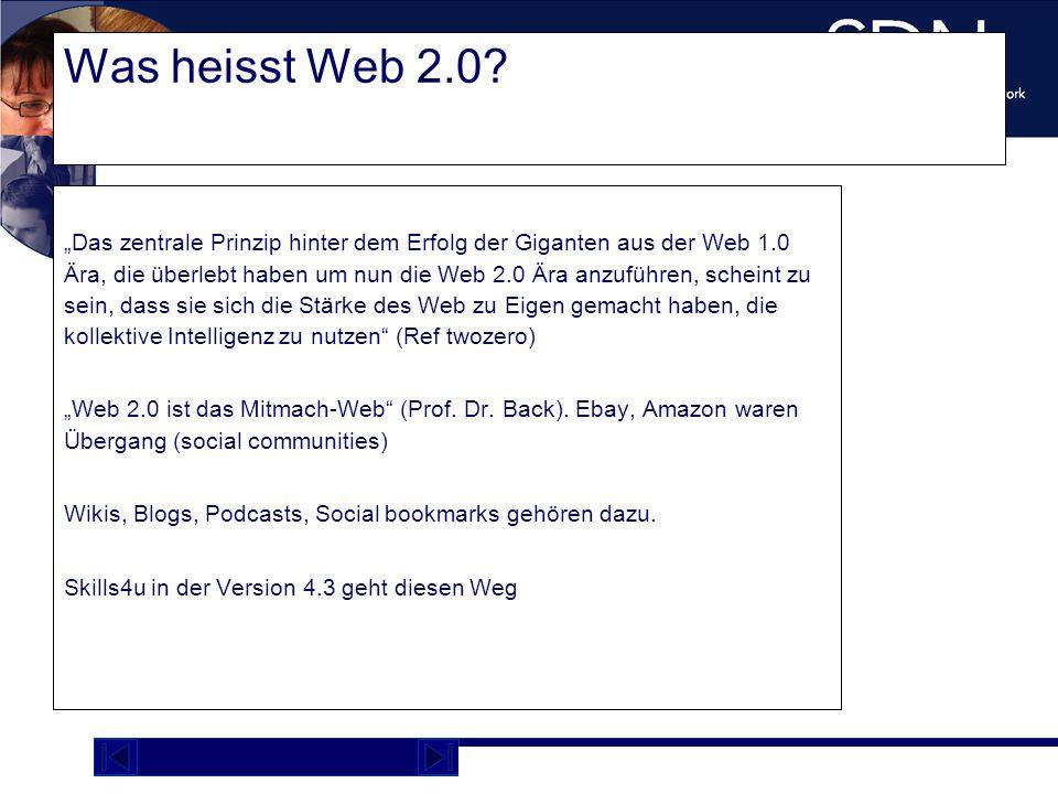 Was heisst Web 2.0