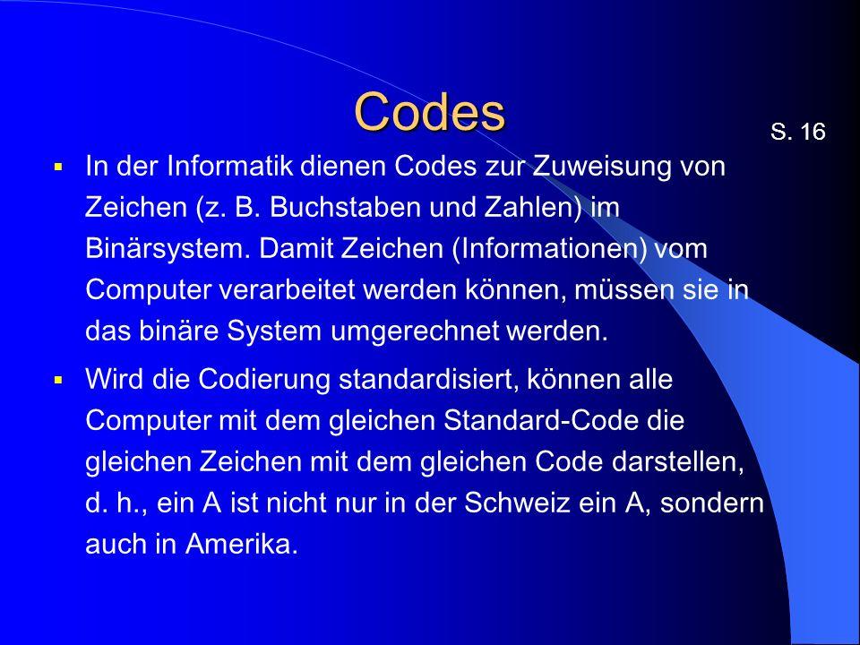 Codes S. 16.