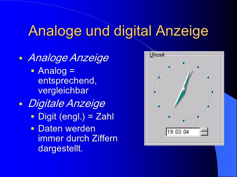 Analoge und digital Anzeige