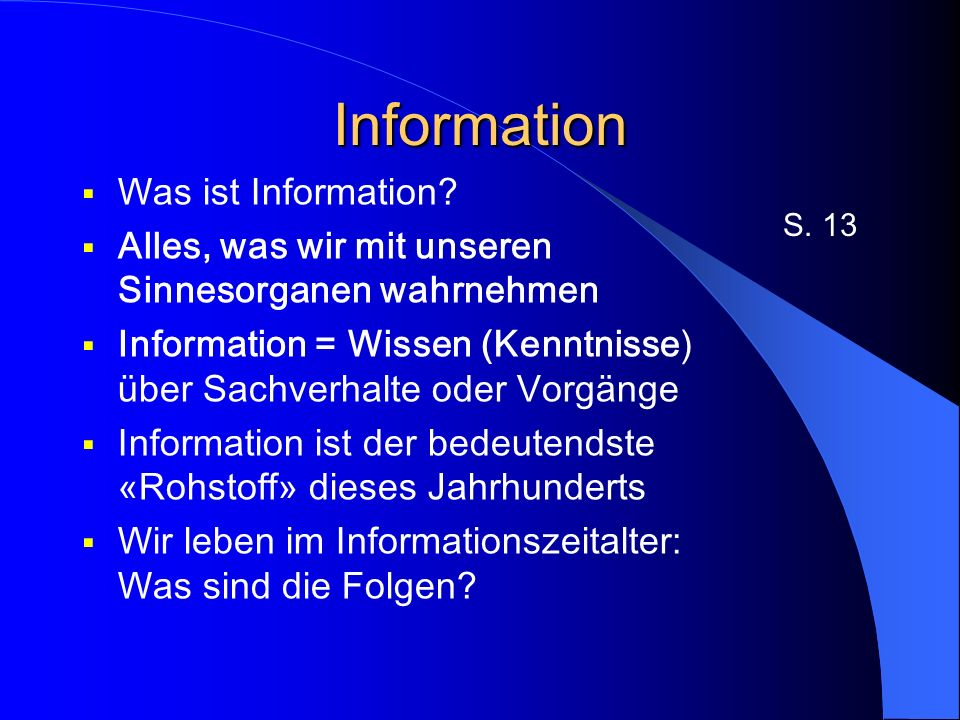 Information Was ist Information