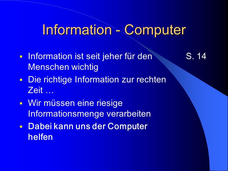 Information - Computer