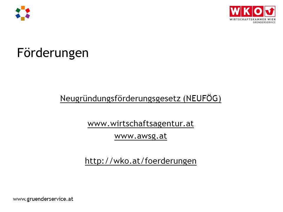 Neugründungsförderungsgesetz (NEUFÖG)