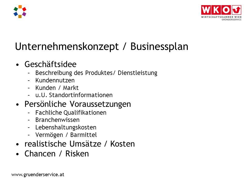 Unternehmenskonzept / Businessplan