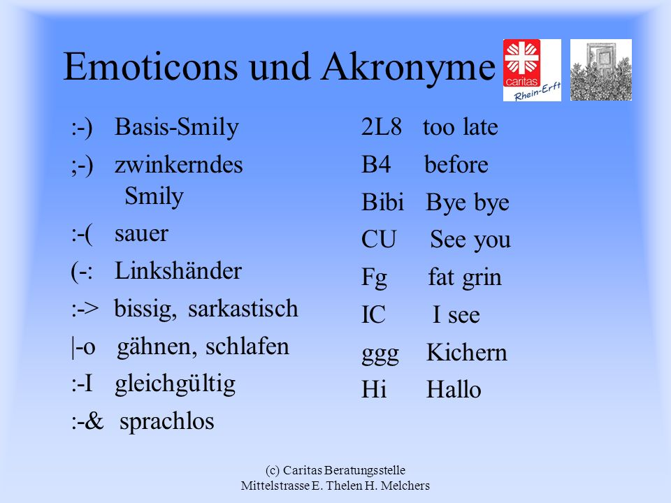 Emoticons und Akronyme