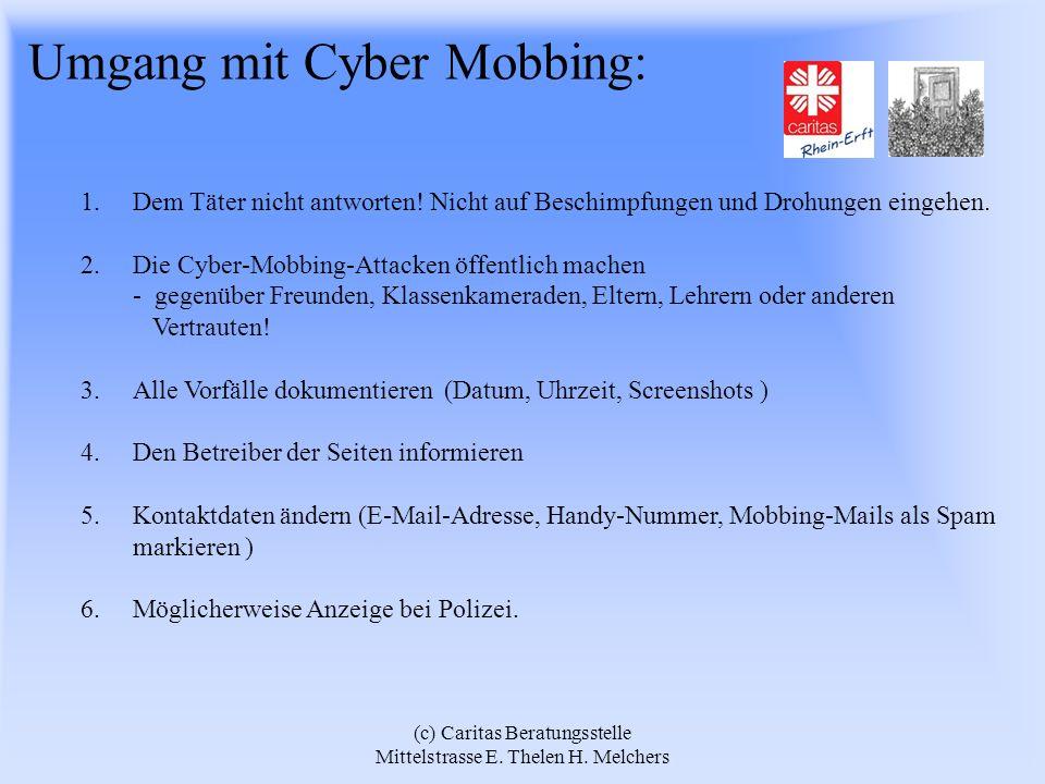 Umgang mit Cyber Mobbing: