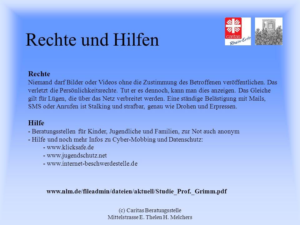 (c) Caritas Beratungsstelle Mittelstrasse E. Thelen H. Melchers