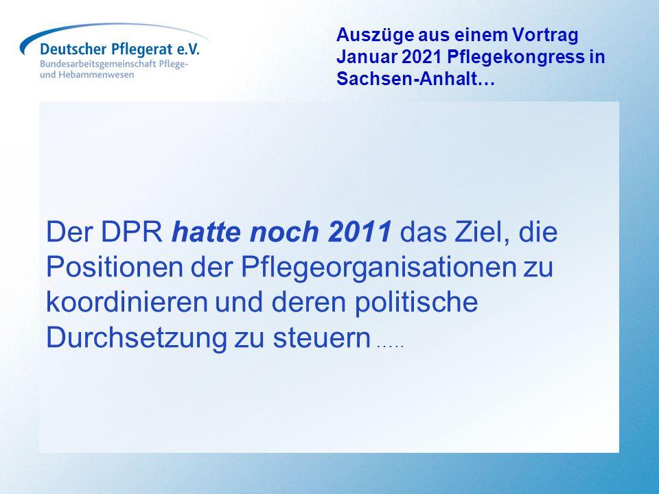 Auszüge aus einem Vortrag Januar 2021 Pflegekongress in Sachsen-Anhalt…