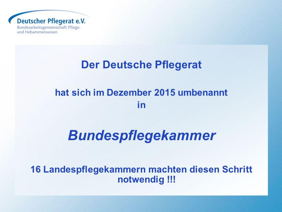 Bundespflegekammer Der Deutsche Pflegerat