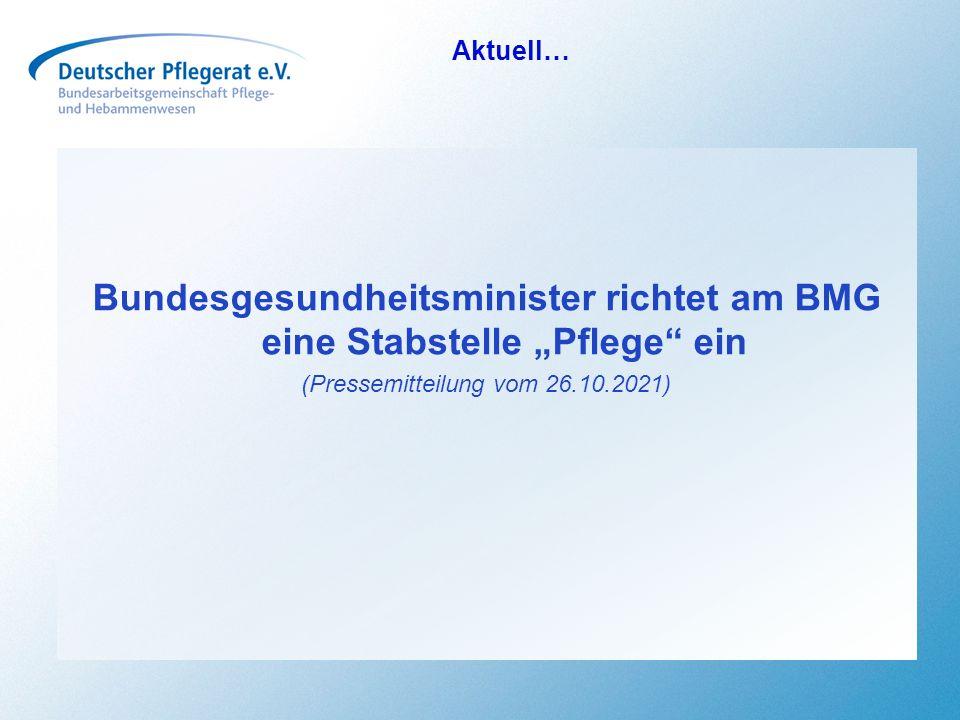 """Bundesgesundheitsminister richtet am BMG eine Stabstelle """"Pflege ein"""