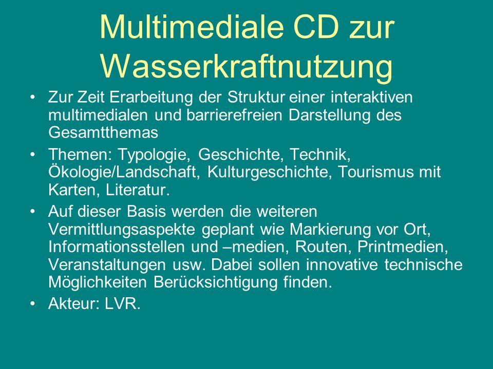 Multimediale CD zur Wasserkraftnutzung